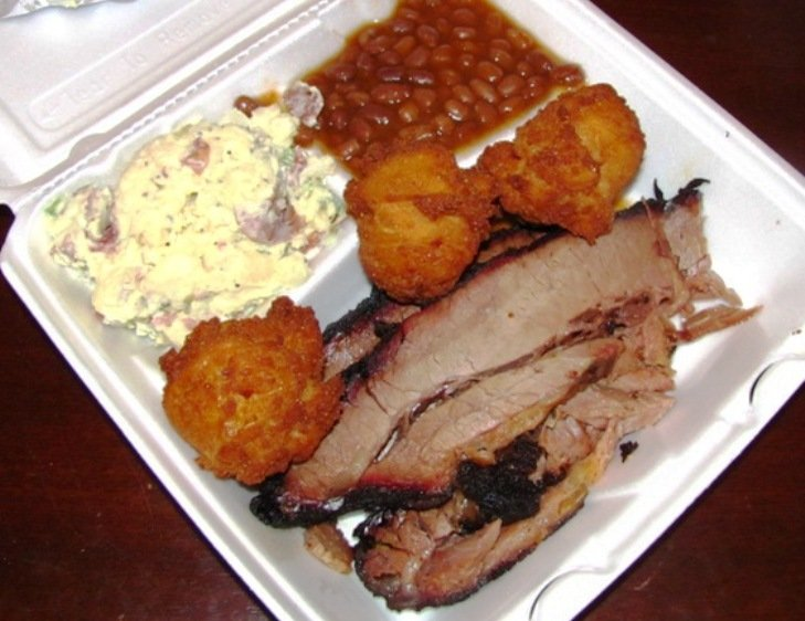 Brisket plate at Big Al's BBQ in Raleigh, NC Triangle Dining