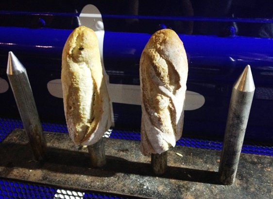 Bread display for Baguettabouit food truck, NC Triangle Dining