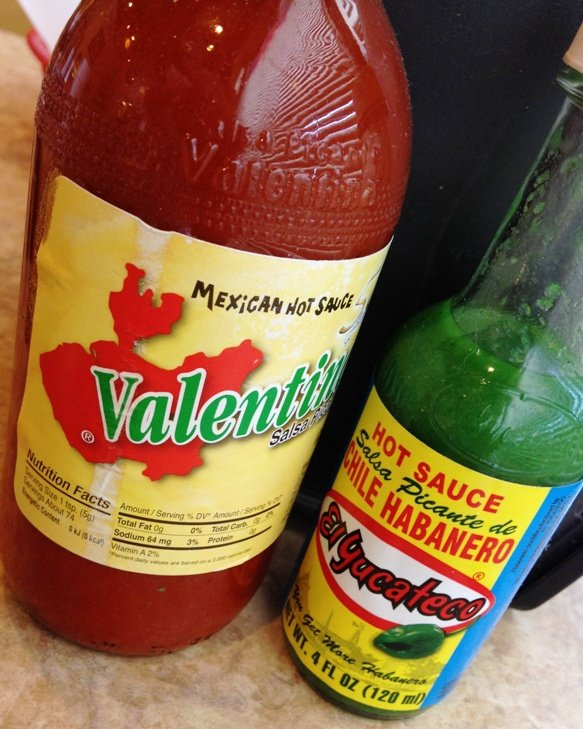 Hot, hot, hot condiments at Los Cuates in Raleigh, NC Triangle Dining