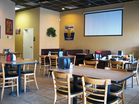 Dining area at Los Cuates in Raleigh, NC Triangle Dining