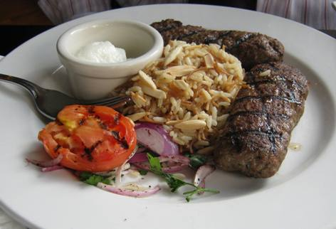 Kafta kabob at Sitti in Raleigh, NC Triangle Dining