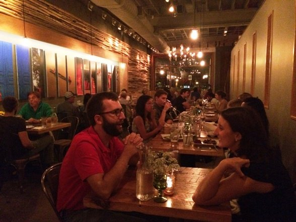 Happy diners at Bida Manda's in Raleigh- Triangle Dining