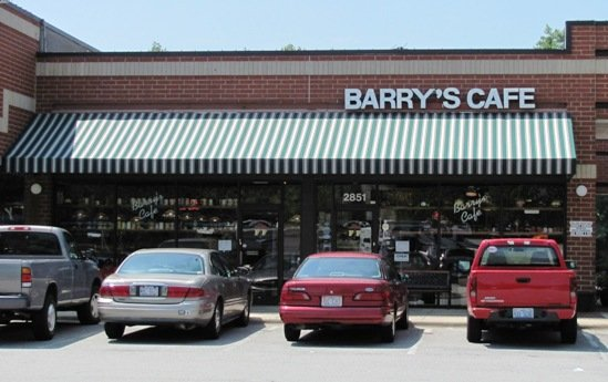 Front of Barry's Cafe in Raleigh, NC Triangle Dining