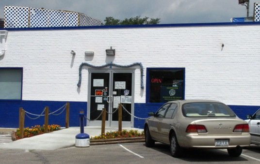 Front of Saltwater Seafood & Fry Shack, Raleigh- NC Triangle Dining