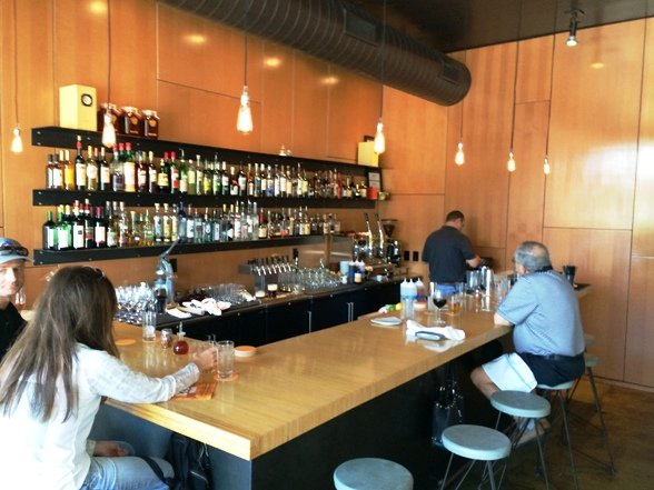 Back bar at Pizzeria Toro in Durham, NC Triangle Dining