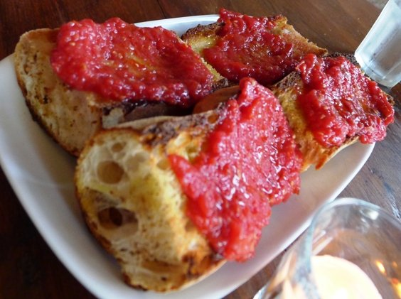 Pan con tomate at Mateo Tapas in Durham, NC Triangle Dining