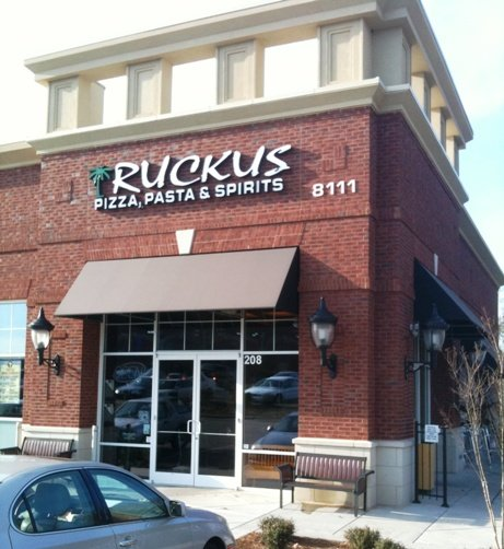 Front of Ruckus Pizza in Cary, NC Triangle Dining