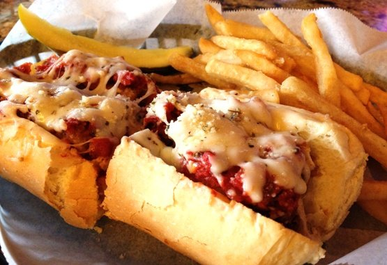 Chicken parm sub at Ruckus Pizza in Cary, NC Triangle Dining