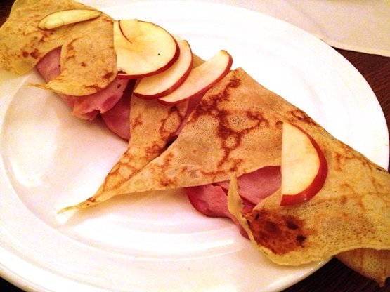 Apple-brie crepe at Simply Crepes in Raleigh, NC Triangle Dining