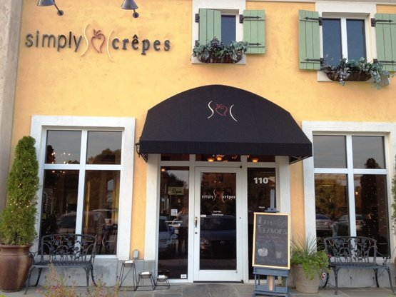 Front of Simply Crepes in Raleigh, NC Triangle Dining