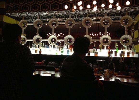 Mirror bar at Clockwork, Raleigh- NC Triangle Dining