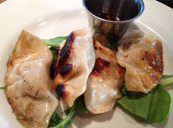 Asian dumplings at the Rockford in Raleigh, NC Triangle Dining