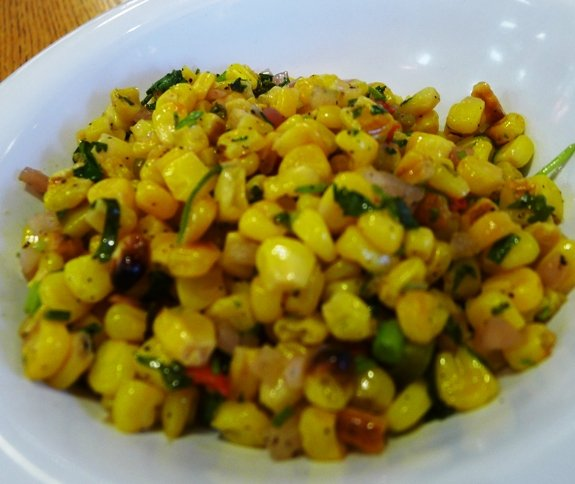 Corn salad at Neomonde, Raleigh- NC Triangle Dining