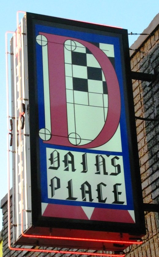 Sign at Dain's Place in Durham, NC Triangle Dining