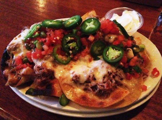 Pork nachos at Raleigh Times Bar, NC Triangle Dining