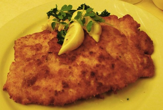 Schnitzel at Guglhupf, Durham- NC Triangle Dining