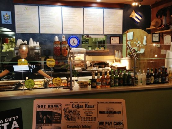 Counter at Havana Grill, Cary on NC Triangle Dining