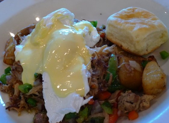 Pork shoulder hash at NOFO in Raleigh, NC Triangle Dining