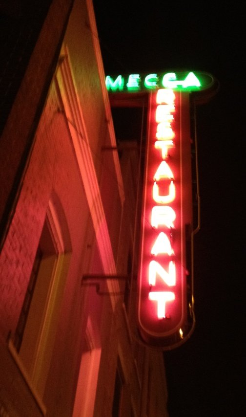 Cool neon sign for the Mecca, Raleigh- NC Triangle Dining