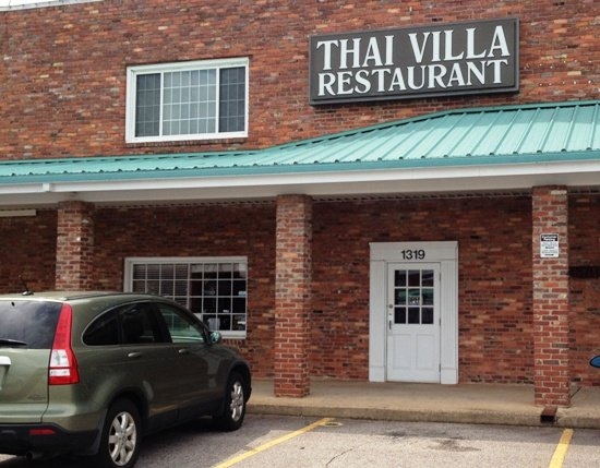 Front of Thai Villa in Cary- NC Triangle Dining