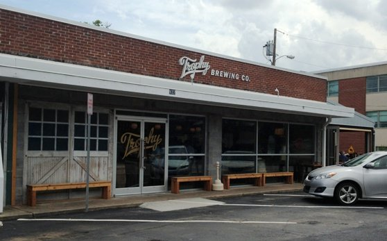 Front of Trophy Brewing, Raleigh- NC Triangle Dining
