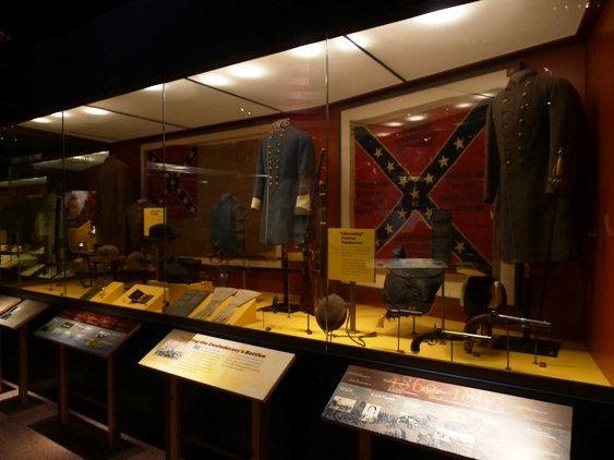 Confederate display at the NC Museum of History, Raleigh- NC Triangle Dining