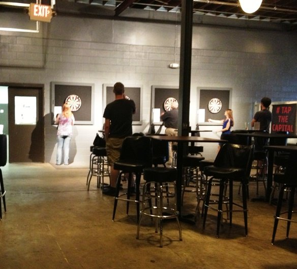 Dart boards at Raleigh Brewing Company- NC Triangle Dining