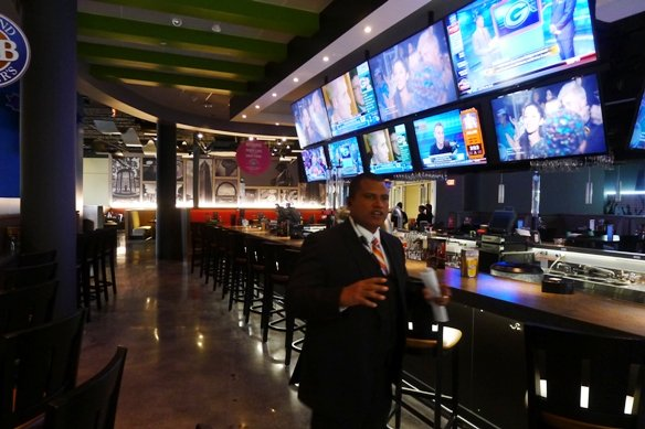 Bar area at Dave and Busters, Cary- NC Triangle Dining