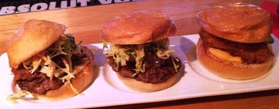 Slider sampler at FLIP Burger-Roswell in Atlanta- NC Triangle Dining