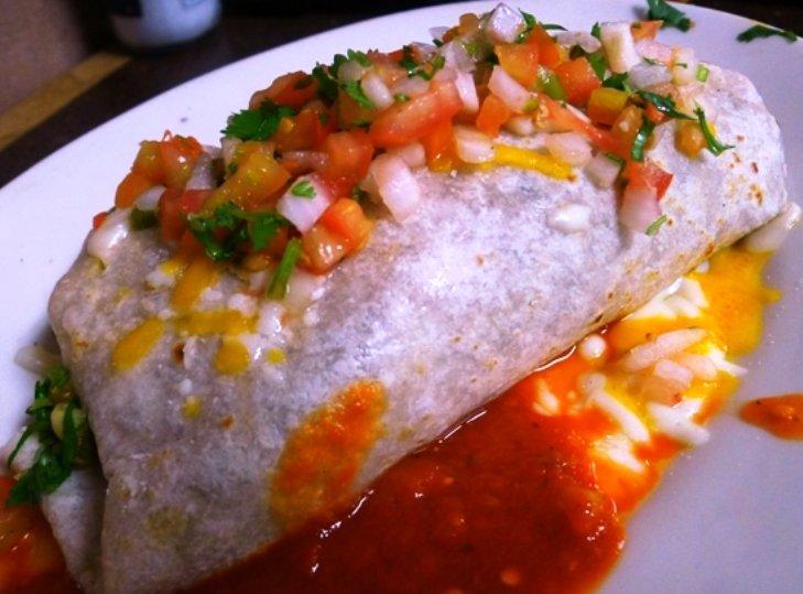 Asada burrito at Taqueria El Toro in S. Raleigh, NC Triangle Dining