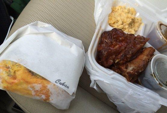 Takeout lunch at Alamo BBQ, Richmond VA- NC Triangle Dining