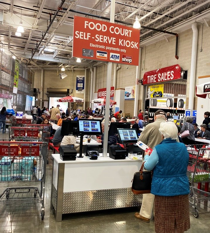 Self-serve food kiosk at Costco in Raleigh - nctriangledining.com