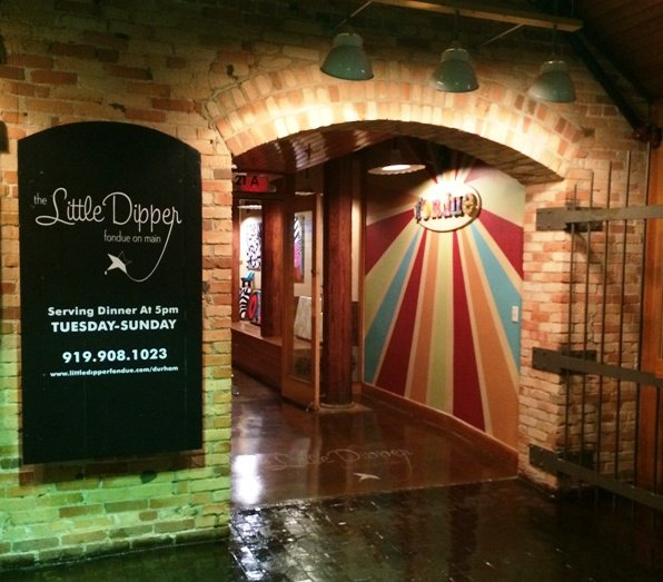 Entry to Little Dipper, Durham- NC Triangle Dining