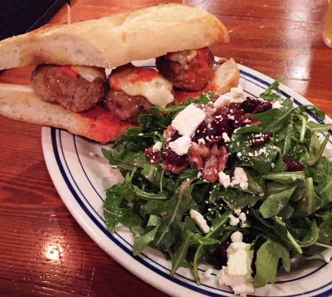 Hoagie and salad at Oak City Meatball Shoppe, Raleigh- NC Triangle Dining