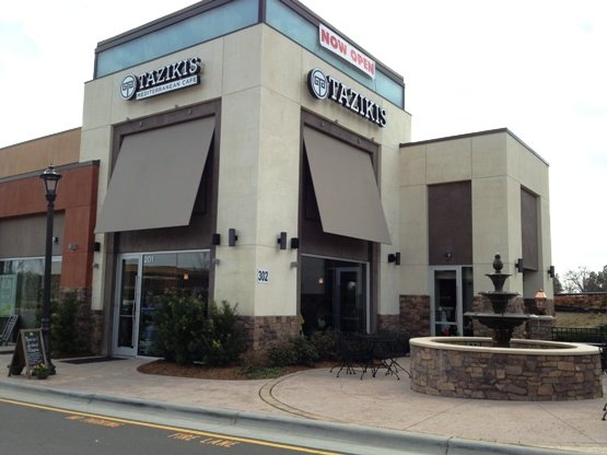 Front of Taziki's in Cary - NC Triangle Dining