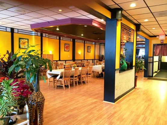 Modern interior at Banana Leaf, Cary- NC Triangle Dining
