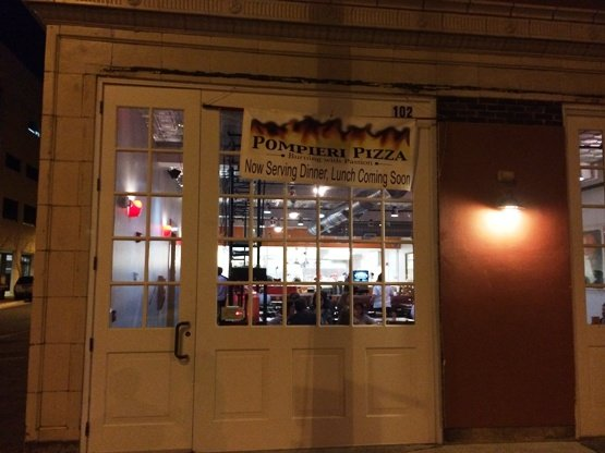 Front of Pompieri Pizza in Durham, NC Triangle Dining