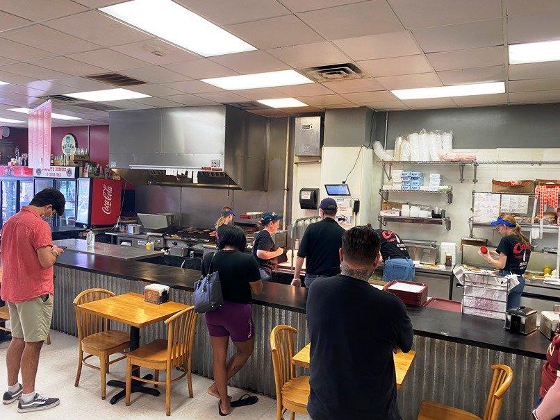 Waiting at Corbett's Burgers & Soda Bar, Cary- nctriangledining.com