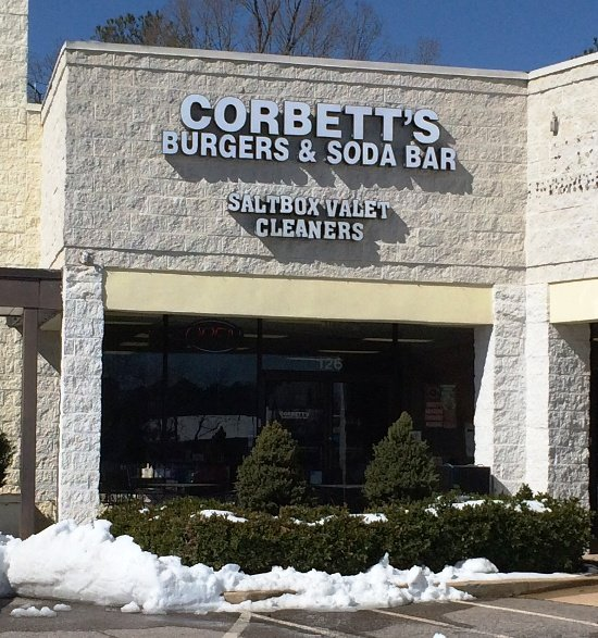 Front of Corbett's Burgers & Soda Bar, Cary- NC Triangle Dining