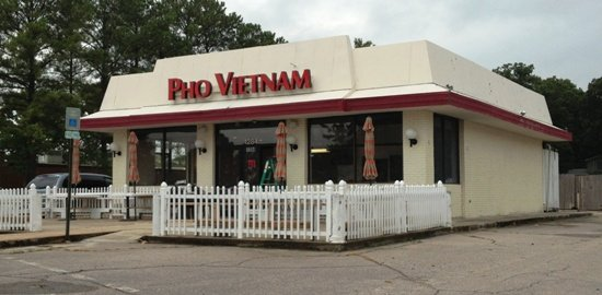 Front of Pho Vietnam, Raleigh- NC Triangle Dining