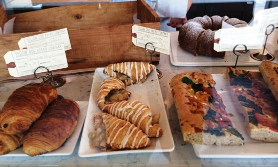 Display case at Yellow Dog Bread, Raleigh- NC Triangle Dining