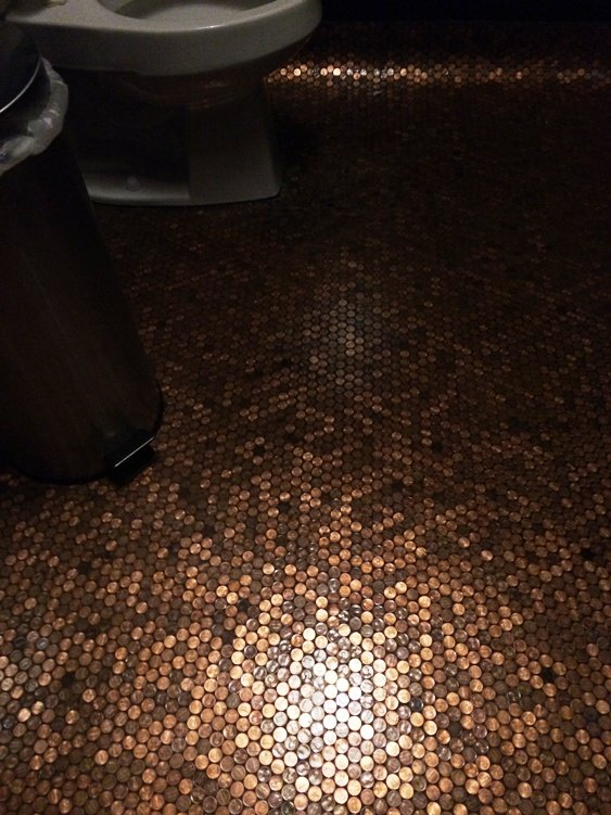 Penny floor at Garland in Raleigh- NC Triangle Dining