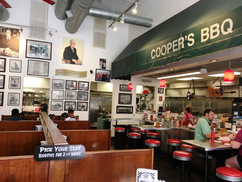 Old awning at the new Clyde Cooper's Barbeque, Raleigh- NC Triangle Dining