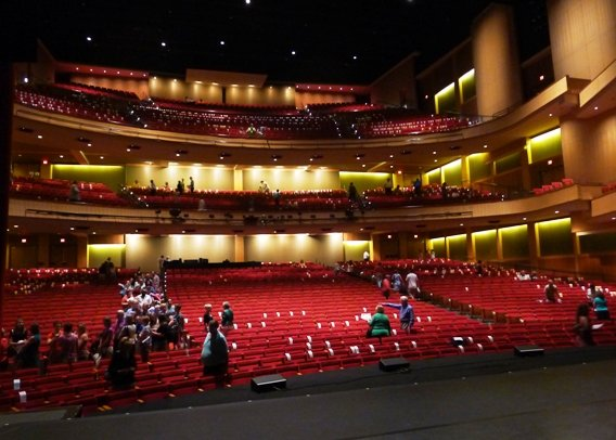 View from stage at at DPAC in Durham - NC Triangle Dining