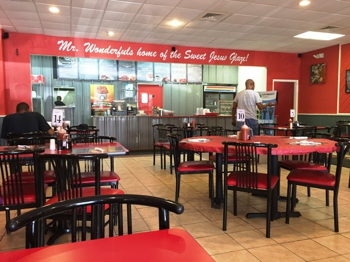 Interior of Mr Wonderful's Chicken & Waffles, Raleigh- NC Triangle Dining