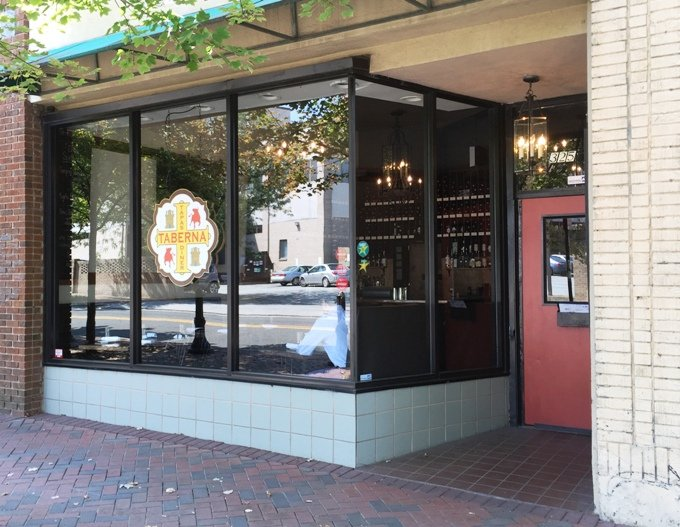 Front of Taberna Tapas in Durham, NC Triangle Dining