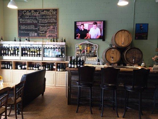 Tastign area at Wine Authorities, NC Triangle Dining