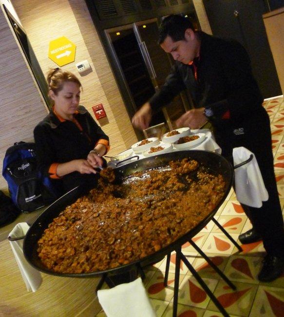 Chicken and mushroom paella at Jaleo in Washington, DC- NC Triangle Dining