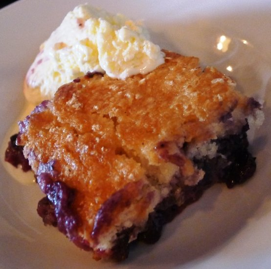 Blueberry cobbler at the Piedmont, Durham- NC Triangle Dining