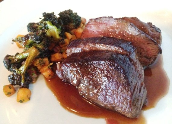 Steak coulotte with sweet potato hash at the Piedmont, Durham- NC Triangle Dining